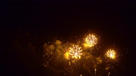 захватывающий : Beautiful abstract colourful Fireworks explode display on sky at night a symbol of celebration in New years anniversary for background