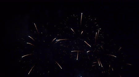 fajerwerki : Beautiful abstract colourful Fireworks explode display on sky at night a symbol of celebration in New years anniversary for background