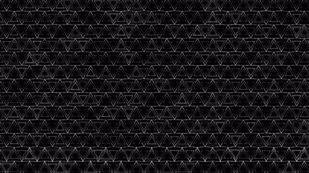 extrude : Dark Black and White Triangles pattern. Modern render smooth animation Abstract background with animation of wave mosaic of Triangles. Technological, Technology background Stock Footage
