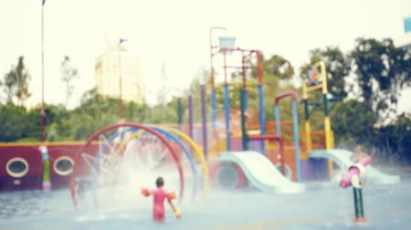 sikoly : Colorful water park ,out of focus