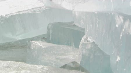 kutup : Thick ice plates melting in the sun