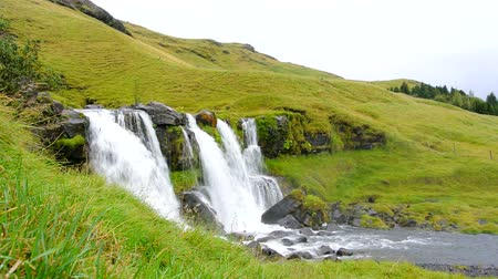 údolí : Waterfall in Iceland.