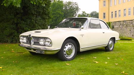 alfa : Alfa Romeo 1900 CSS classic Italian sports car on display during 2016 Classic Days at Dyck castle in Germany.