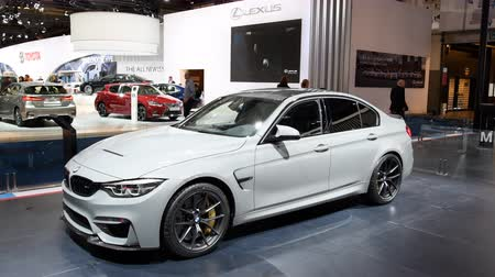 двухместная карета : BMW 3 series M3 Sedan during the 2018 European Motor Show Brussels.