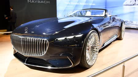 cabriolet : Vision Mercedes-Maybach 6 Cabriolet luxury exclusive convertible concept car on display during the 2018 European Motor Show Brussels.
