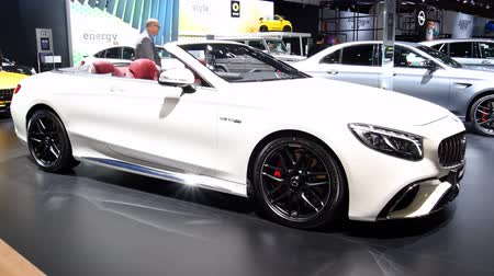 cabriolet : Mercedes-AMG S65 Cabriolet luxury convertible car on display during the 2018 European Motor Show Brussels.