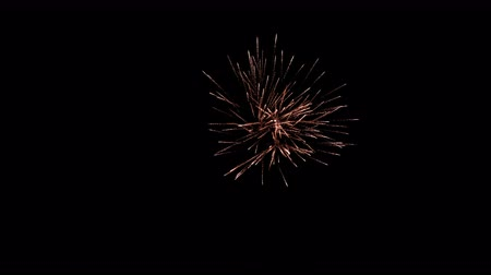 čtvrtý : Fireworks exploding in the dark night sky during a celebration, shot in 4K resolution.
