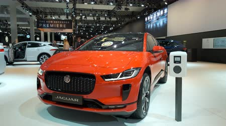 melez : BRUSSELS, BELGIUM - JANUARY 9, 2020: Jaguar I-Pace (I-PACE) battery-electric crossover SUV on display at Brussels Expo