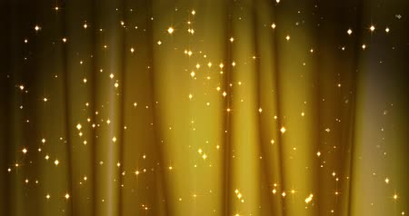 tiyatro : Golden Merry Christmas background with golden stars. Walpaper Valentines day Stok Video