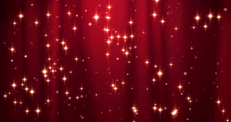 Red Merry Christmas background with golden stars. Walpaper Valentines day