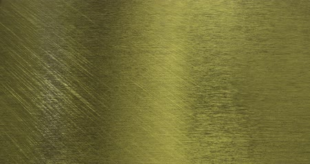 Golden foil background. Gold glitter texture 3D rendering loop 4k Stok Video