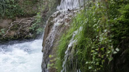 vago : Large waterfall in the park in the summer
