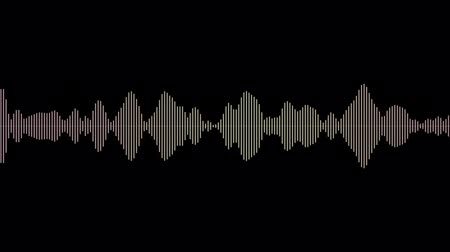 Audio signal animation, simple colorful equalizer, the sound wave as a background motion 4K Vídeos