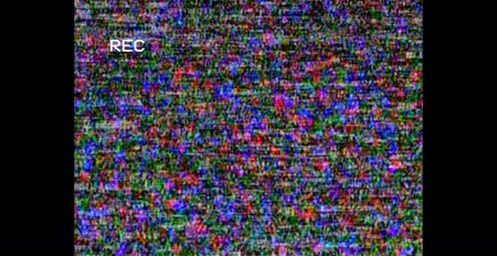 ntsc : TV noise. Video home system analog TV. HD. Screen Error. Recording on tape. Battery charge Stock Footage