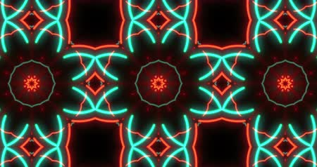 článek : Abstract hypnotic kaleidoscope pattern seamless animation. Dynamic and multicolored loop motion background