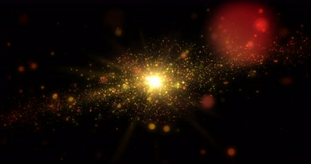 článek : Gold galaxy abstract background. Universe exploration concept endless and loopable animation.