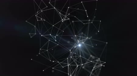 Plexus. Abstract network connection background. Space, constellation, galaxy. Loop Animation. Vídeos