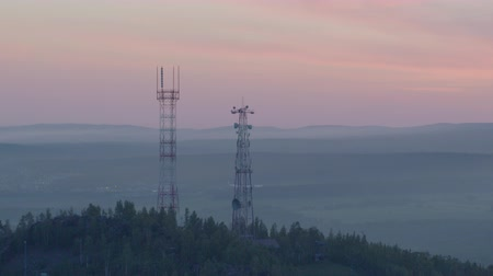 cellular structure : Cell tower on the mountain