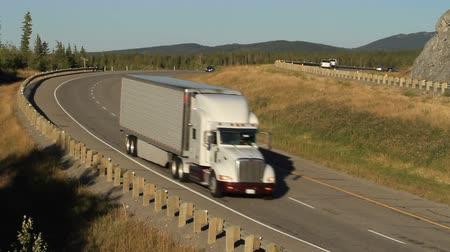 trucks : Truck on Highway Stock Footage