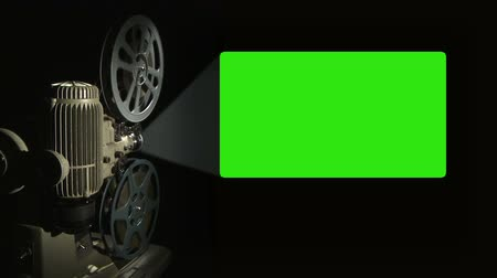 filmes : Film Projector with 16x9 aspect ratio green screen