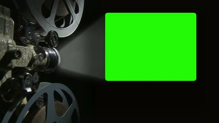 ключ : Film Projector with 4x3 aspect ratio green screen