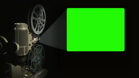 régi : Film Projector with 4x3 aspect ratio green screen