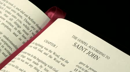 İncil : The Holy Bible, Gospel of John Stok Video