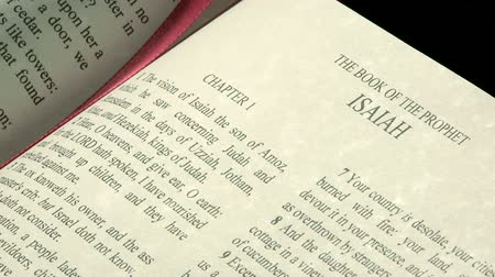 verse : The Holy Bible, Book of Isaiah Stock Footage