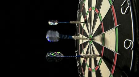 hedef : Three darts including a bulls eye