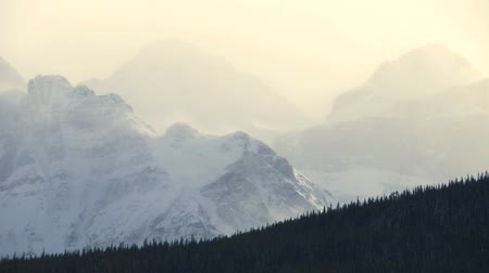kanada : Winter Mountains time lapse