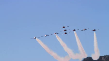 Aerobatic demonstration flying