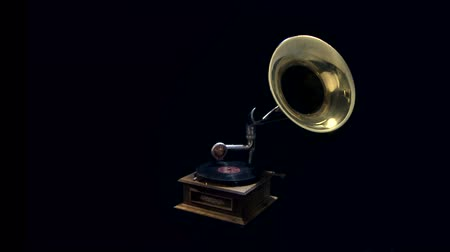 grammophon : Antique Phonograph, breite Rotation