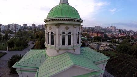 sobor : Aerial view of Rostov on Don. Surb hach church near park Drujba