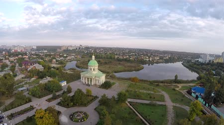 sobor : Aerial view of Rostov on Don. Surb hach. Park drujba