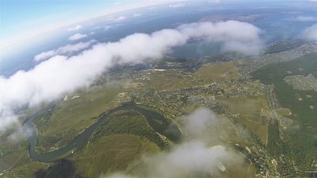 bird list : Real flight in clouds at height of 1800 meters or 5905 ft. Beautiful landscape