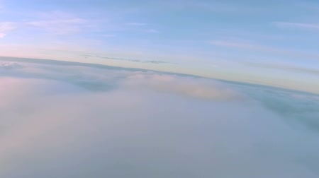 bird list : Flight over field of clouds at height of 1800 meters .Aerial with roll