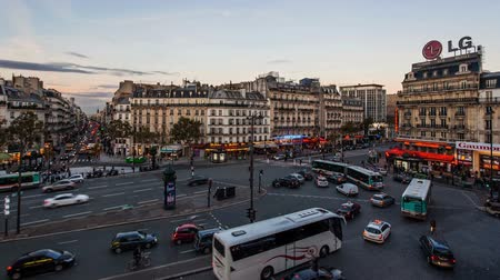 lafayette : Sunset in Paris Stock Footage