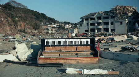 culpa : Tsunami 2011, Fukushima Japan, city destroyed by tsunami