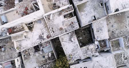 damasco : Damascus suburbs destroyed in aerial view, Syria