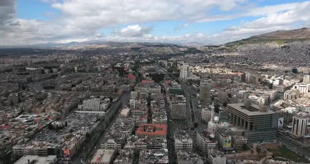 damascus : the city of damascus in aerial view, Syria