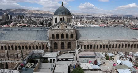 mesquita : Damascus Mosque with aerial view, Syria