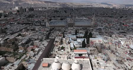 damasco : Damascus Mosque with aerial view, Syria