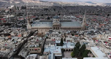 damascus : Damascus Mosque with aerial view, Syria