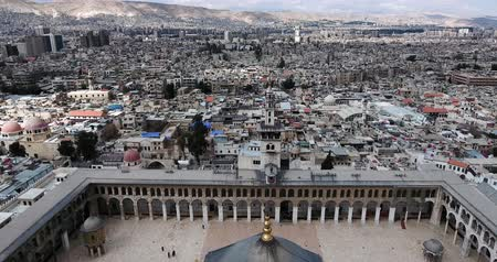 祈り : Damascus Mosque with aerial view, Syria