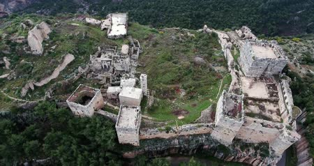 roman : Krak of the knight in aerial view, syria