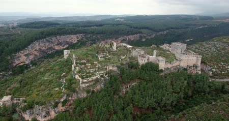 monumentális : Krak of the knight in aerial view, syria