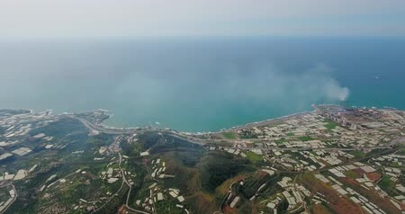 Latakia port in aerial view, Syria
