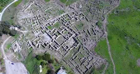 aerial view of Ugarit archaeological site in syria