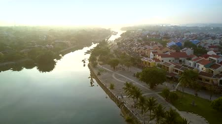 vietnami : beautiful cityscape with calm river meandering to horizon Stock mozgókép