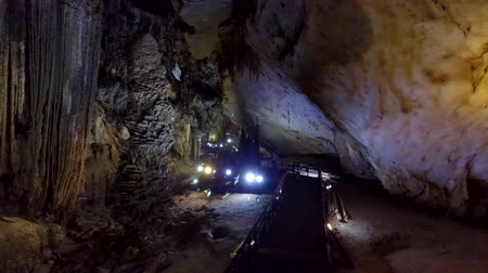 известняк : majestic place for cavers exploration of huge karst cavern